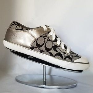 "Coach Blue and Silver ""Bobbey"" Sneakers-Size 8B"